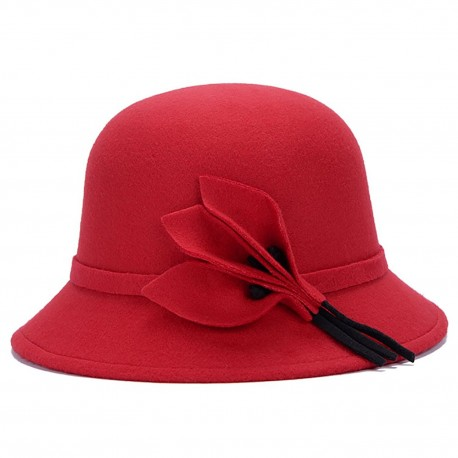 Sombrero Madame rojo