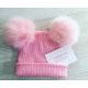 Gorro pompón rosa para niños