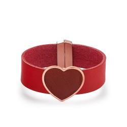 Pulsera corazón rojo