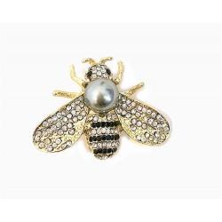 Broche abeja dorada