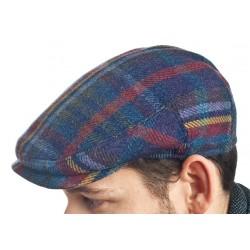 Gorra de cuadros azul
