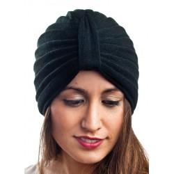 Gorro turbante tono negro