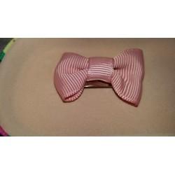 Ranita bebé lazo rosa palo