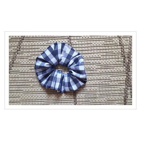Coletero redondo cuadro grande vichy azul marino