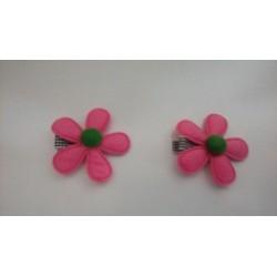 Clip flor de fieltro