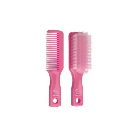 Conjunto peine y cepillo bebé- Tono rosa