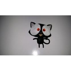 Pasador gatito negro