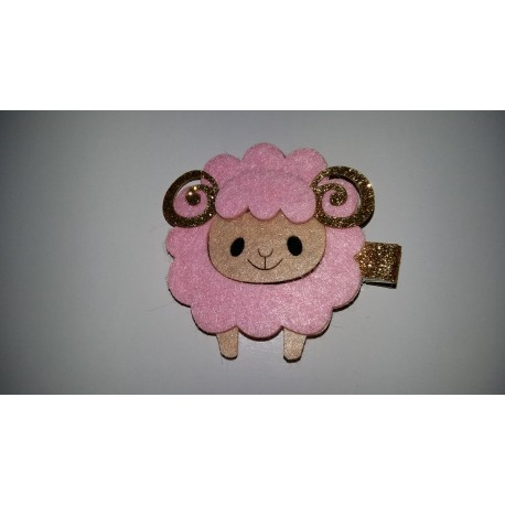 Horquilla ovejita rosa