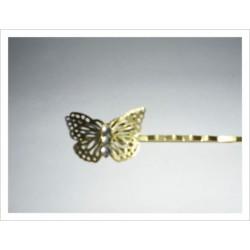 Horquilla dorada modelo mariposa