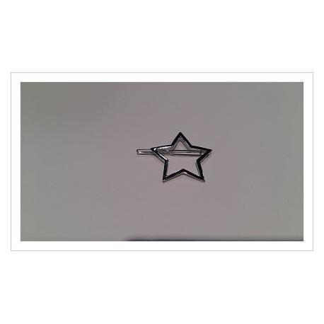 Pasador estrella plateada