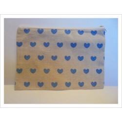 Neceser corazones azul