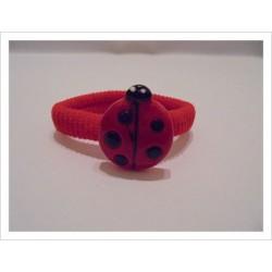 Goma bebé mariquita rojo