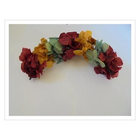 Tocado flores naturales EMILIA multicolor