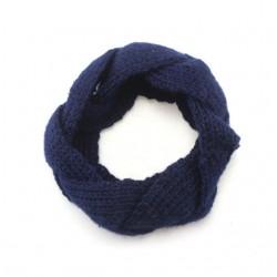 Turbante-cuello azul marino