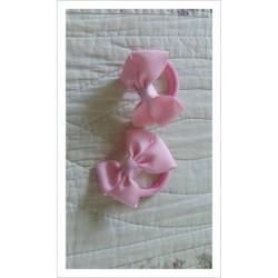 Coletero lazo rosa bebé