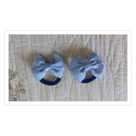 Coletero lazo azul bebé