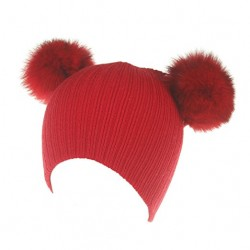 Gorro pompón rojo para niños