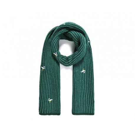 Bufanda de punto verde Flamencos