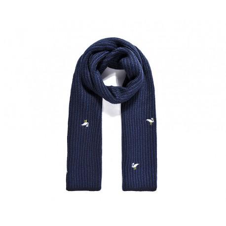 Bufanda de punto azul Flamencos