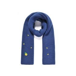 Bufanda de punto azul Piña