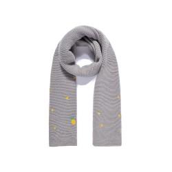 Bufanda de punto gris Piña